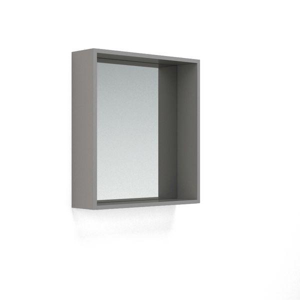 Nabis open mirror unit 600mm Grey Gloss