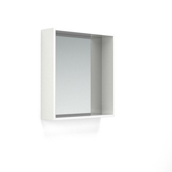 Wolseley Own Brand Nabis open mirror unit 600mm White Gloss