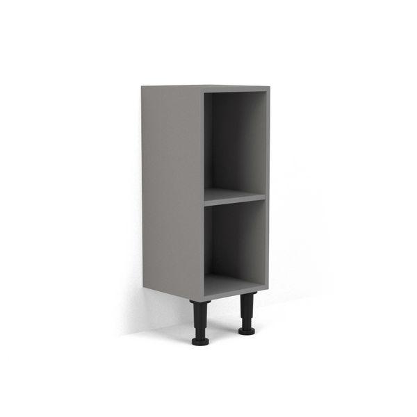 Nabis open shelf base unit 300mm Grey Gloss