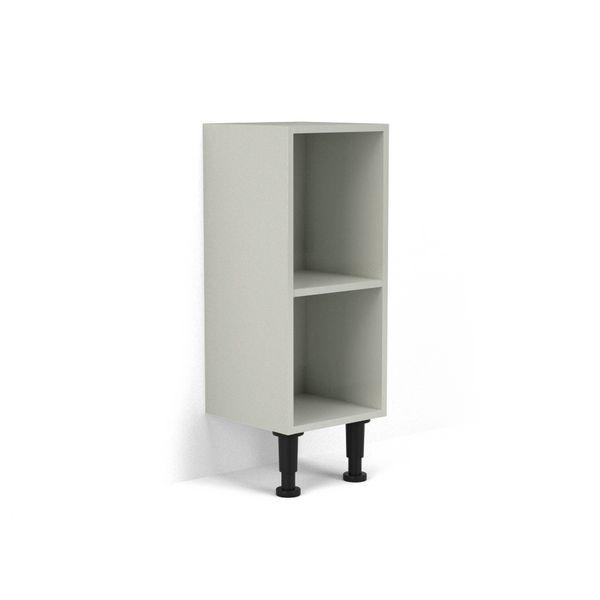 Nabis open shelf base unit 300mm Silver Grey Gloss