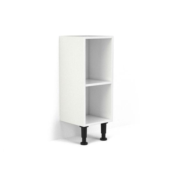 Wolseley Own Brand Nabis open shelf base unit 30mm White Gloss