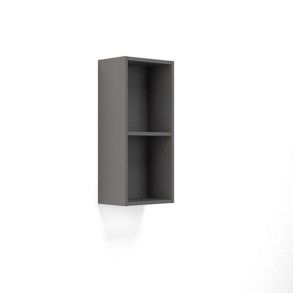 Wolseley Own Brand Nabis open shelf wall unit 300mm Charcoal Grey Gloss