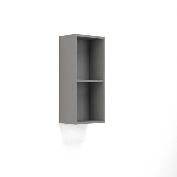 Wolseley Own Brand Nabis open shelf wall unit 300mm Grey Gloss