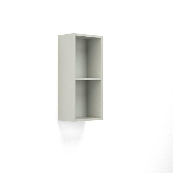 Wolseley Own Brand Nabis open shelf wall unit 300mm Silver Grey Gloss