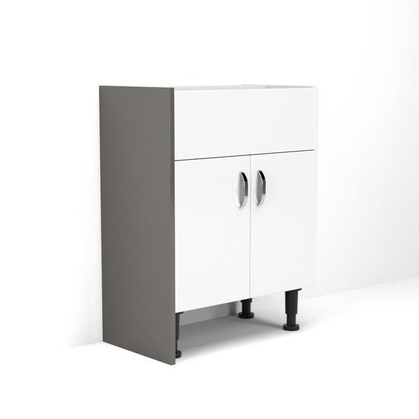 Nabis base cladding panel 220 x 385mm Charcoal Grey Gloss