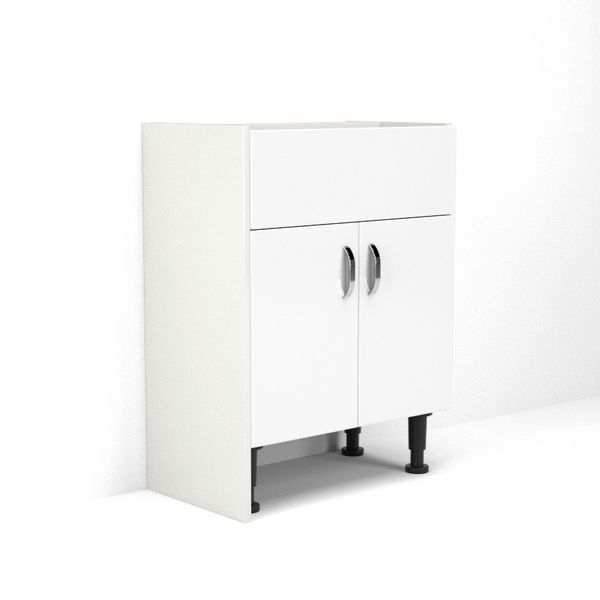 Wolseley Own Brand Nabis base cladding panel 220 x 835mm White Gloss