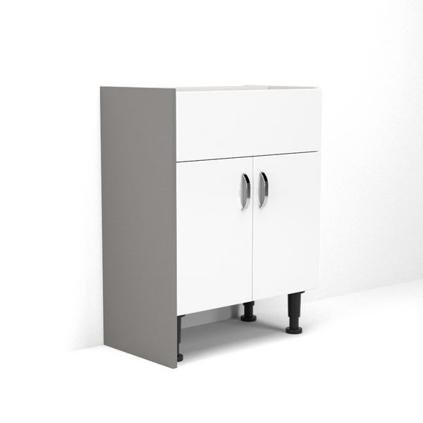 Wolseley Own Brand Nabis base cladding panel 300 x 835mm Grey Gloss