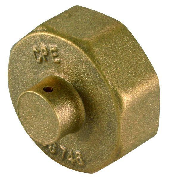 Tesla gas meter cap 3/4 Brass