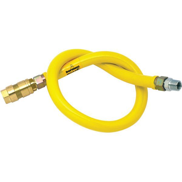 Mechline 26100NPVF36 1 x 1 metre long standard NPVF gas connection hose BS669 part 2; supplied with quick disconnect coupling;