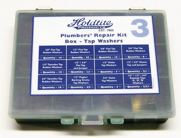 Masefield tap washer repair kit box
