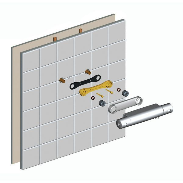 Ideal Standard fast fix wall bracket with 2 suit valves