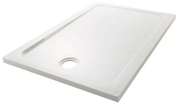 Mira Flight Safe low level shower tray with 4 upstand 1200mm x 900mm