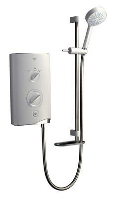 Mira Sport thermostatic electric shower 9.8kw White/Chrome Plated