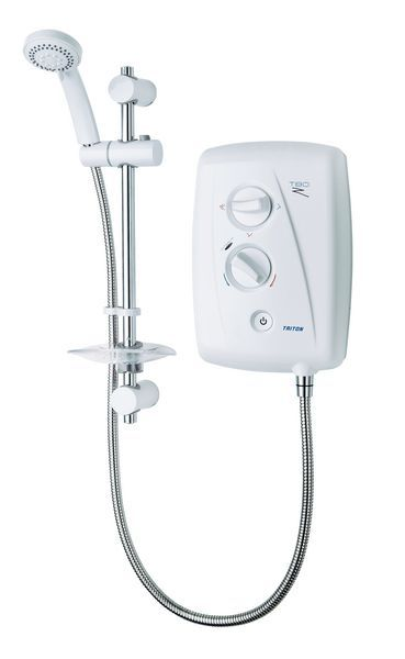 Triton T80Z fast fit shower 7.5kw White/Chrome Plated