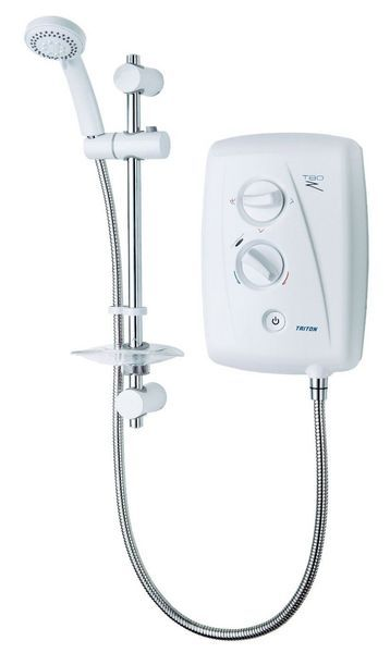 Triton T80Z fast fit shower 10.5kw White/Chrome Plated