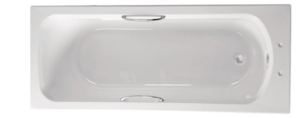 Roca Cadiz bath including twin grips 1700 x 700mm White