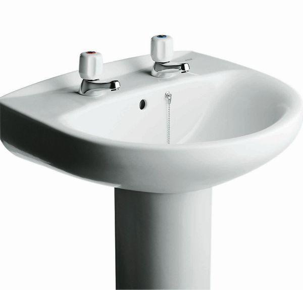 Roca Laura 2 tap hole basin 560mm White