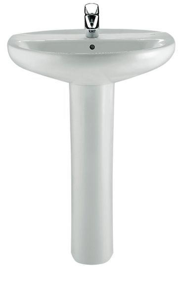Roca Laura 1 tap hole basin 520mm White