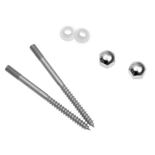 Roca vertical floor fixing kits Chrome Plated