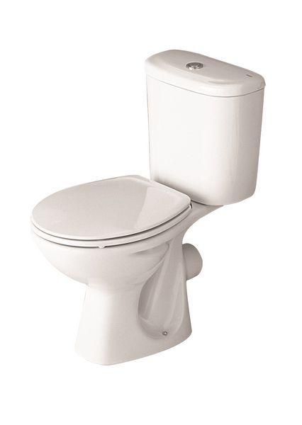 Roca Polo close coupled toilet pan White