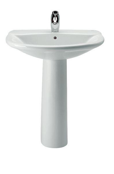 Roca Polo 2 tap hole basin 560mm White