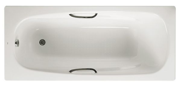 Roca Carla 2 tap hole anti-slip eco bath without grips 1700 x 700mm