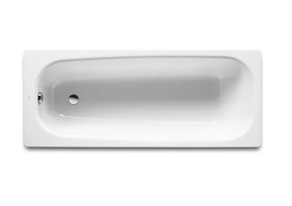 Roca Contesa 2 tap hole anti-slip bath 1700 x 700mm White