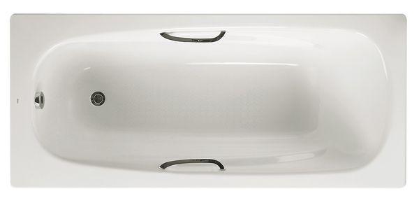 Roca Carla 2 tap hole anti-slip bath 1600 x 700mm White