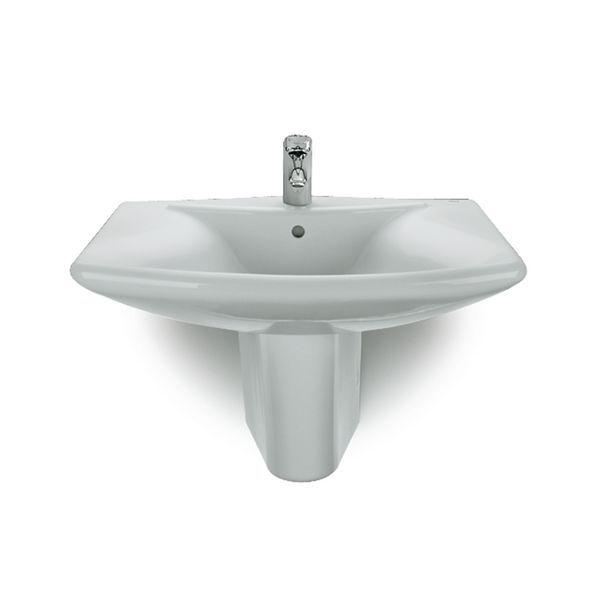 Roca Laura semi-pedestal for basin 450mm White