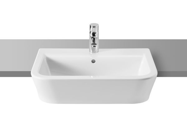 Roca The Gap one tap hole semi recessed basin 560mm White