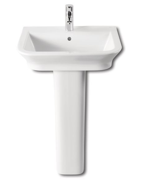 Roca The Gap one tap hole basin 450 x 420mm White