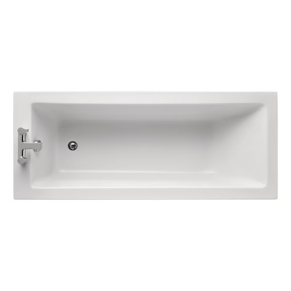 Ideal Standard Tempo Cube no tap hole bath 1700 x 700mm White