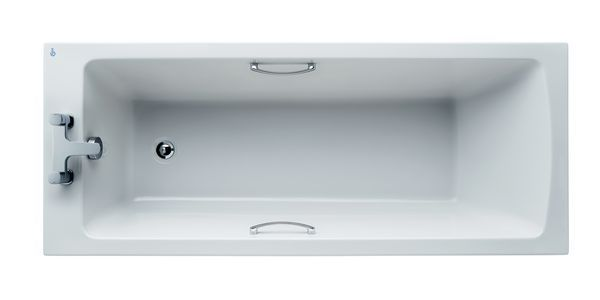 Ideal Standard Tempo Arc E155801 no tap hole rectangular bath with hand grips 170 x 70cm