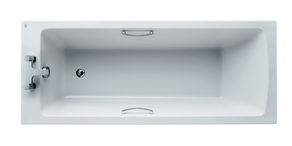 Ideal Standard Tempo Arc E156201 no tap hole rectangular water saving bath with hand grips 170 x 70cm