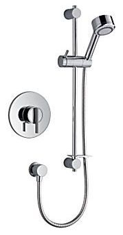 Mira Silver built in valve thermostatic concentric mixer Chrome