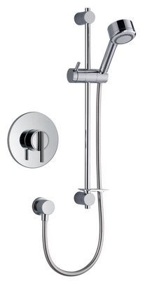 Mira Silver built in rigid thermostatic concentric mixer Chrome Plated