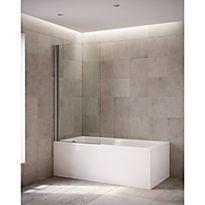 Mira Elevate single panel square bath screen