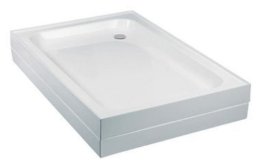 Wolseley Own Brand Center Center Brand shower tray with 4 upstands 1000 x 700mm 80mm