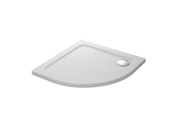 Mira Flight Safe low level quadrant shower tray no upstands 800mm