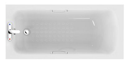 Ideal Standard Sandringham 21 bath including twin grips and tread 1600mm White