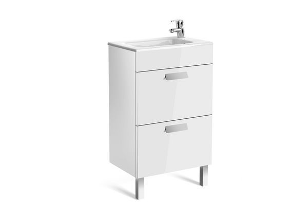 Roca Debba Compact 2 drawer unit 500mm White
