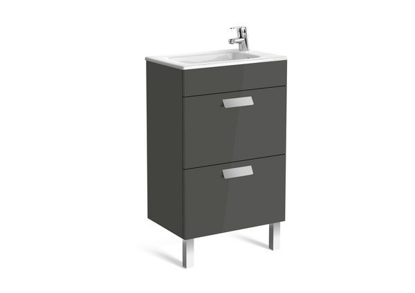 Roca Debba Compact unik 2 drawer unit 500mm Anthracite