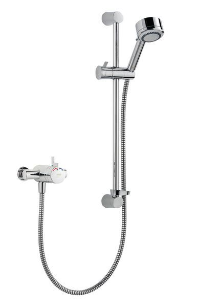 Mira Miniduo dual control exposed variable shower Chrome Plated