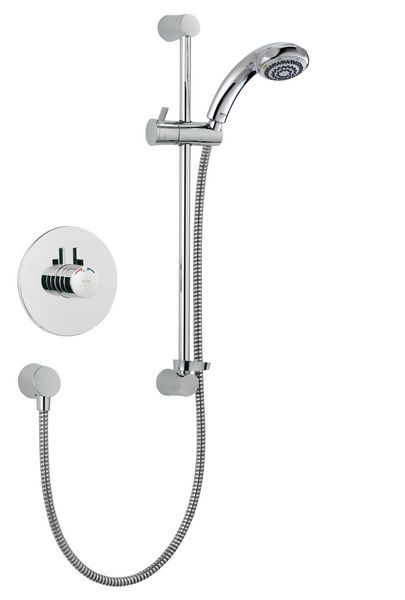 Mira Miniduo eco shower head built in variable Chrome Plated
