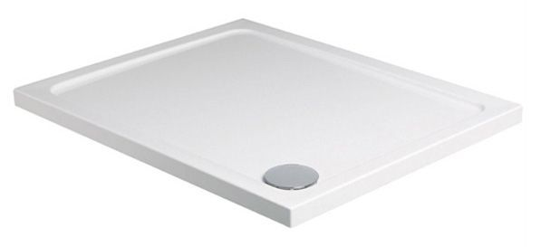Just Trays Fusion shower tray with 4 upstands 1200 x 900mm White
