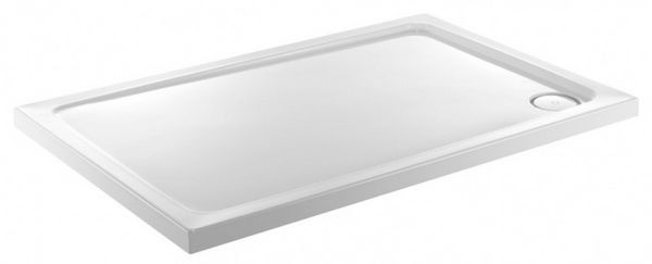 Just Trays Fusion shower tray 800 x 700mm 40mm White