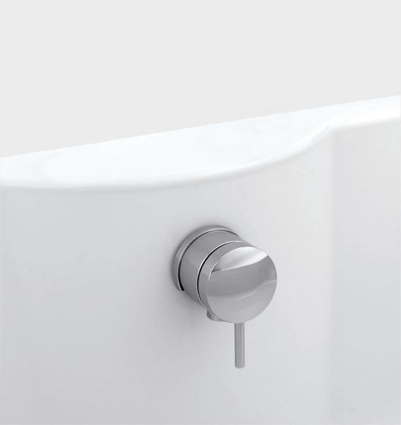 Roca Maxiflow overflow bath filler tap and waste Chrome Plated