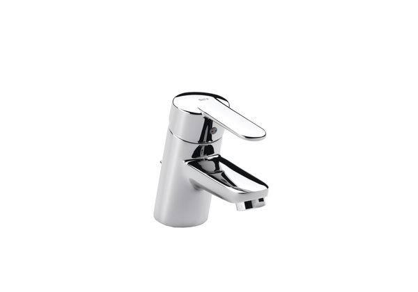 Roca V2 basin mixer tap excluding waste Chrome Plated