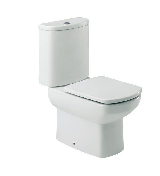 Roca Senso Close coupled toilet pan white