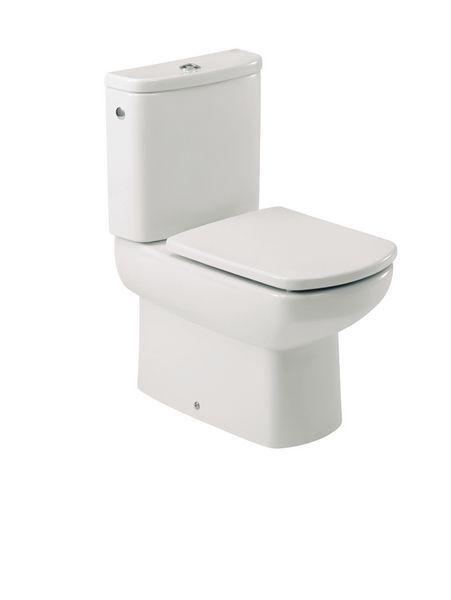 Roca Senso/Compact close coupled toilet pan White
